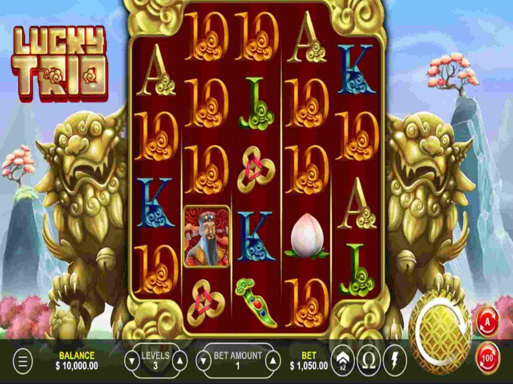 Majagames หน้าเกมสล็อต Lucky TRIO สล็อตออนไลน์จาก มาจาเกม